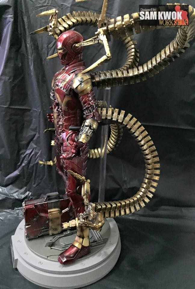 Cool Custom-Made Hot Toys Spider-Man Action Figures - Iron ...
