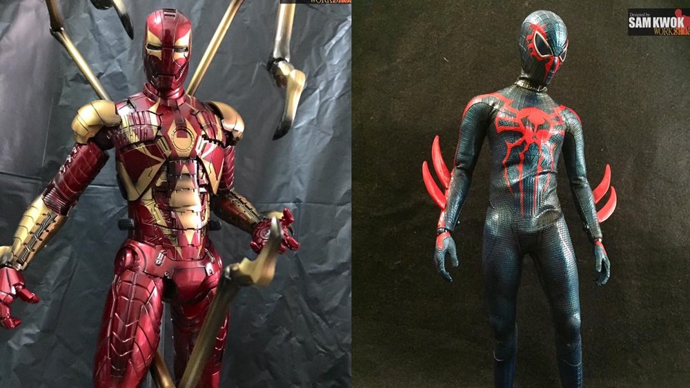 Cool Custom Made Hot Toys Spider Man Action Figures Iron Spider
