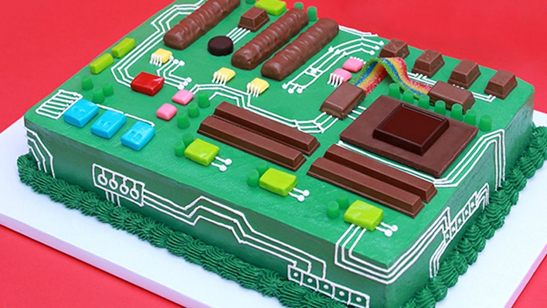 Learn How To Make A Geeky Tech Motherboard Cake Geektyrant