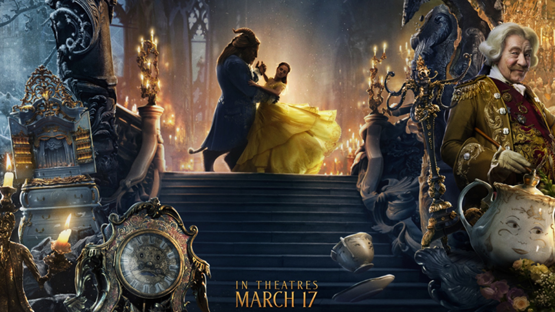 Disney Has Released A Stunning New Banner Promoting Their Live Action Adaptation Of Beauty And The Beast It Definitely Does Good Job Showing Off