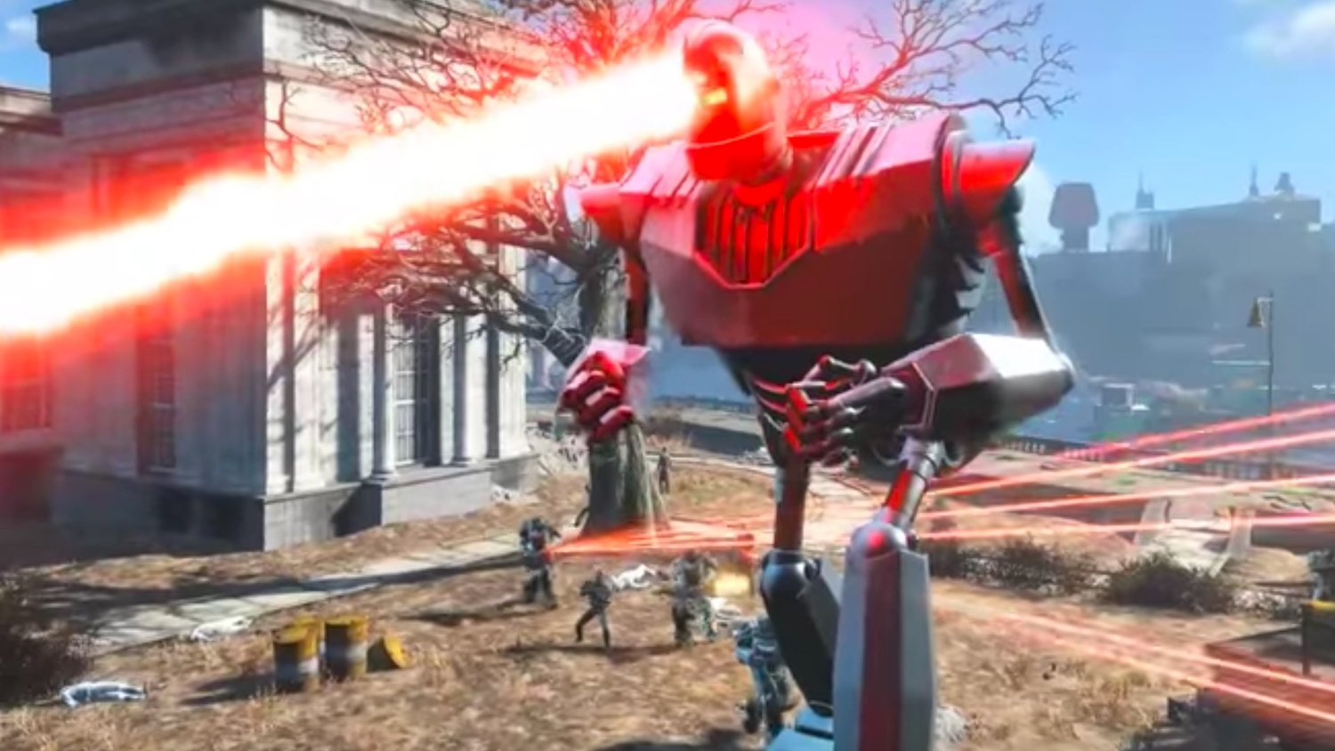 Watch THE IRON GIANT Go on a Rampage in FALLOUT 4
