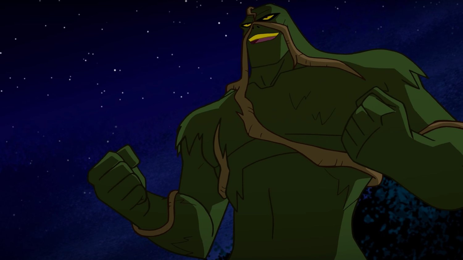 Mark Hamill's Swamp Thing Fights Solomon Grundy in JUSTICE LEAGUE ACTION Clip