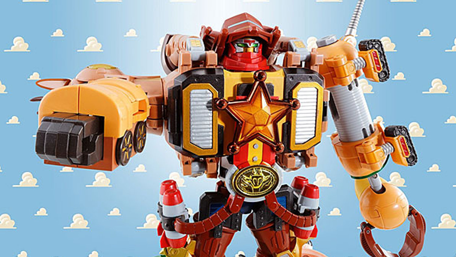 This Figure Combines TOY STORY Characters Into a POWER RANGERS-Style Megazord