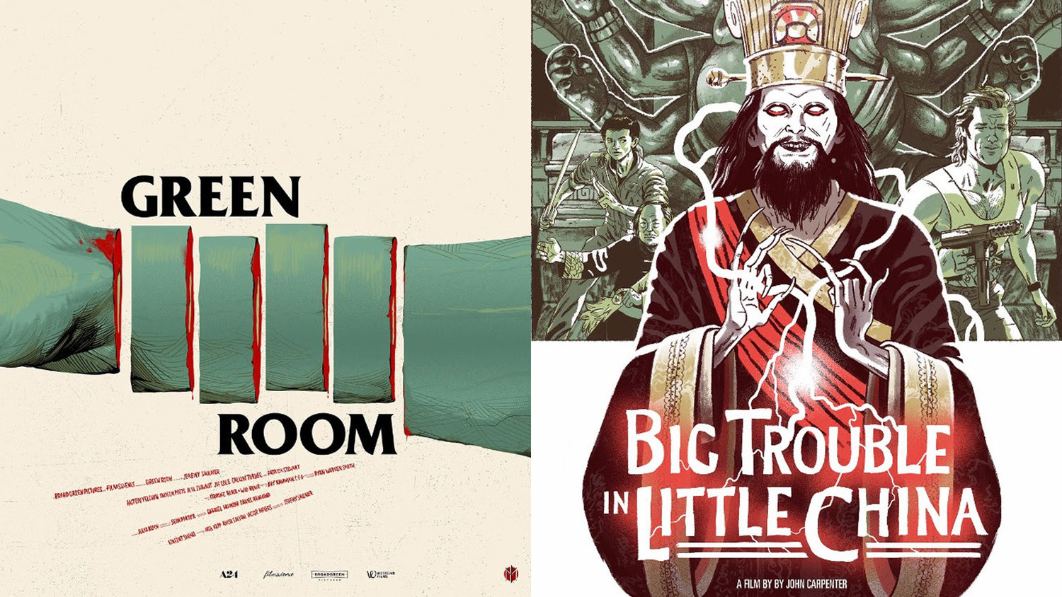 Mondo Unveils Posters Celebrating GREEN ROOM and BIG TROUBLE IN LITTLE CHINA