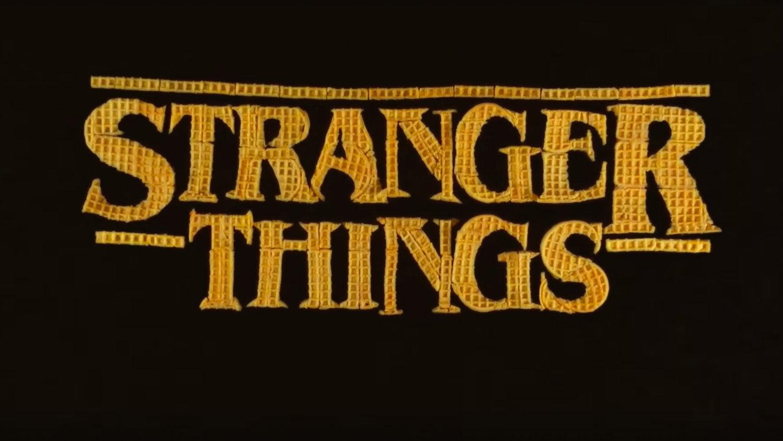 STRANGER THINGS Opening Credits Recreated Using Eggo Waffles