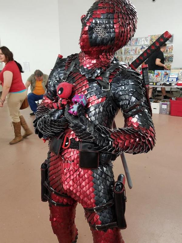 Crazy Deadpool Cosplay Features A Dragon Scale Armor Suit