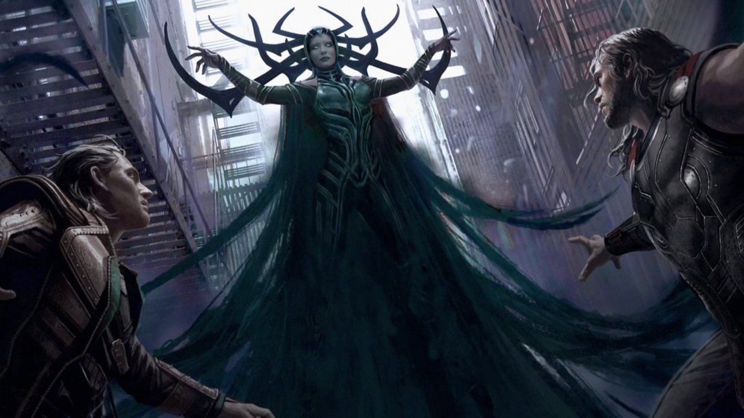 Thor and Hulk Fight in New THOR: RAGNAROK Concept Art and First Good Look at the Villain Hela