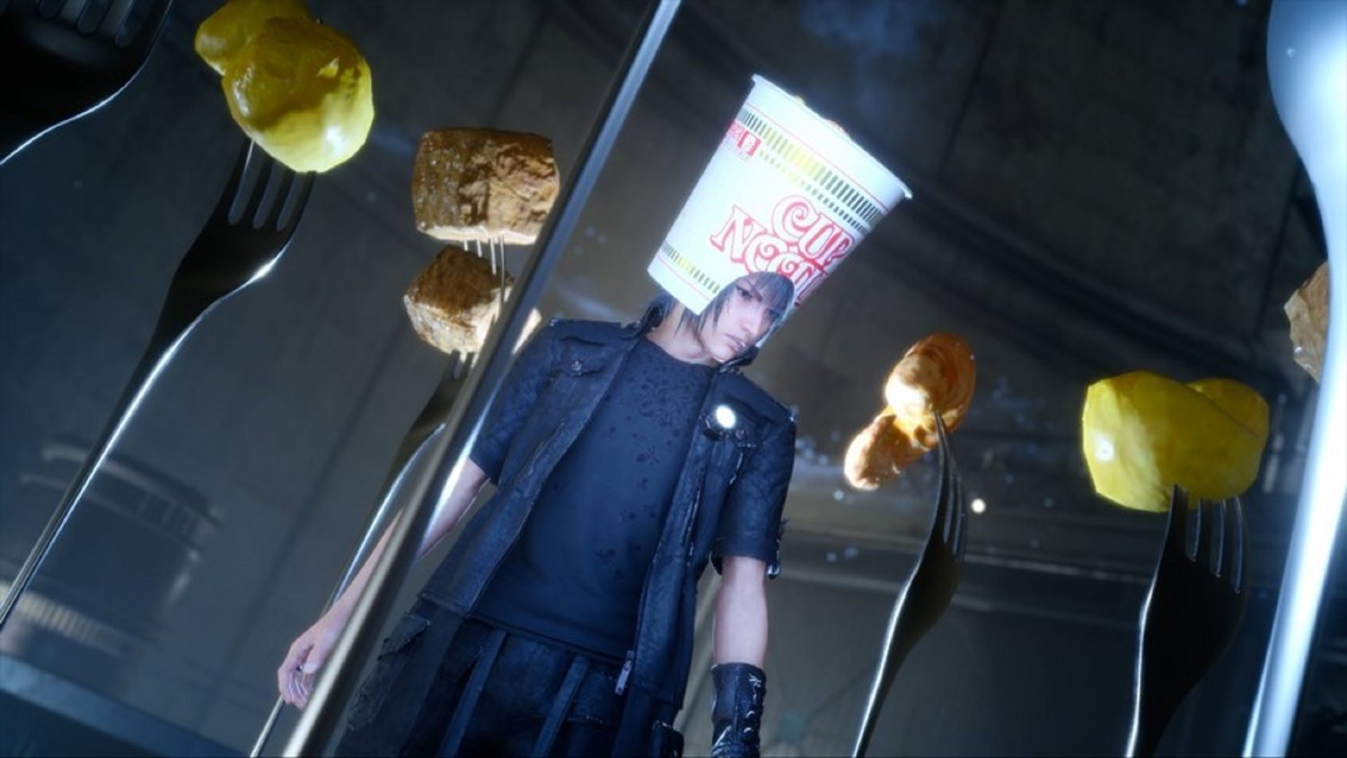 That Weird Cup Noodle Hat Is Coming To FINAL FANTASY XV