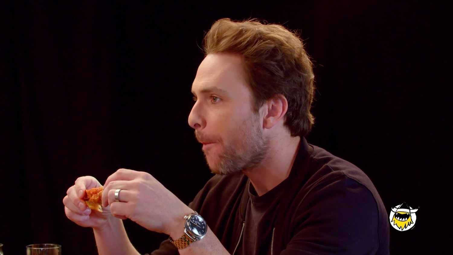 Charlie Day Eats Spicy Wings In Great Interview