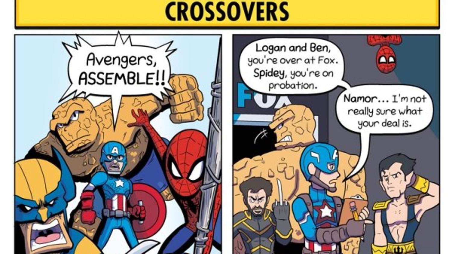 Amusing Comic Strip Highlights the Differences of Marvel Comics Vs. Marvel Movies