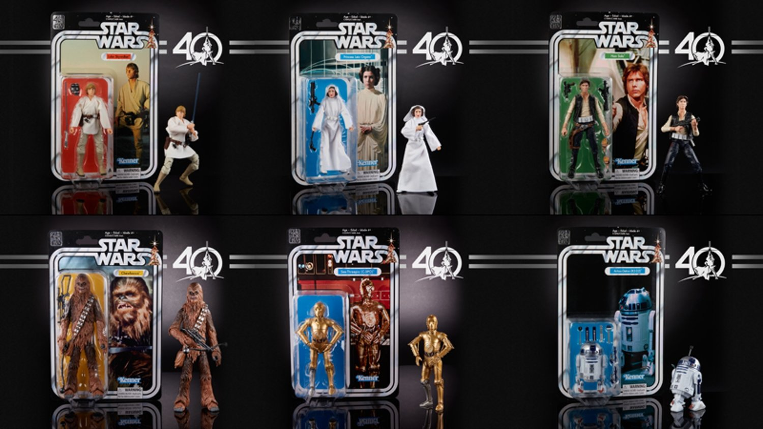 Hasbro's 40th Anniversary STAR WARS Black Series Action Figures Are Awesome!