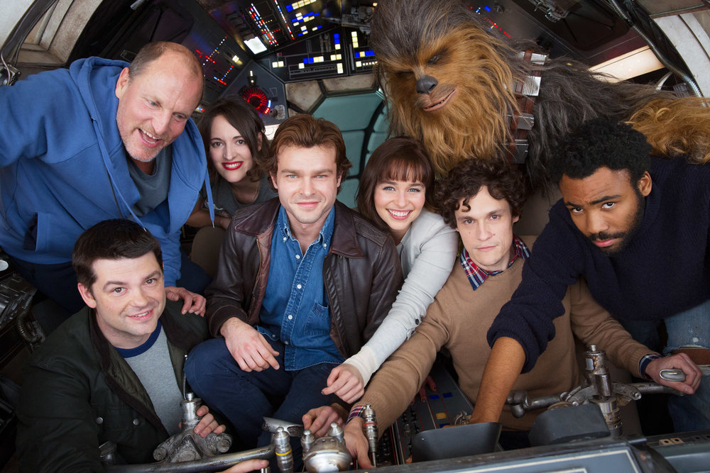the-cast-of-the-han-solo-movie-packs-into-the-millennium-falcon-for-a-photo1