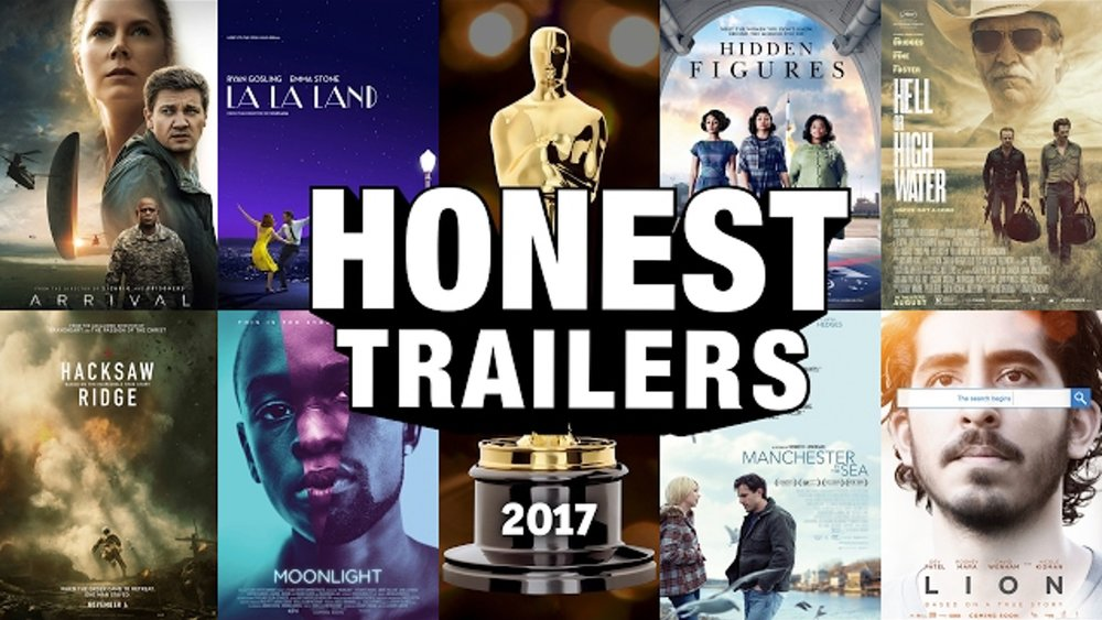 the 2017 oscar nominations get the hilarious honest trailers treatment  u2014 geektyrant