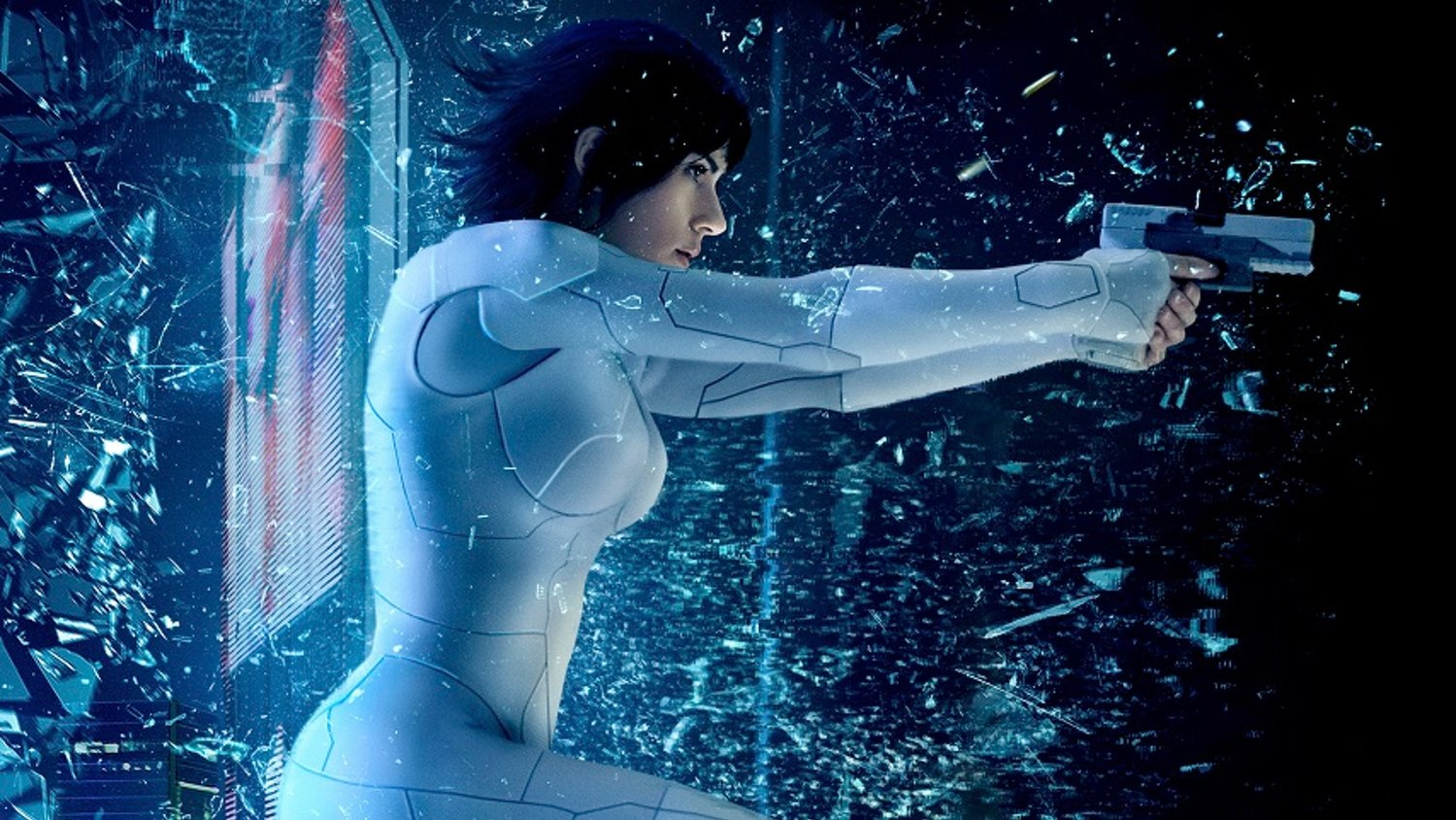 Two Slick IMAX Posters for GHOST IN A SHELL Smash Their Way Online