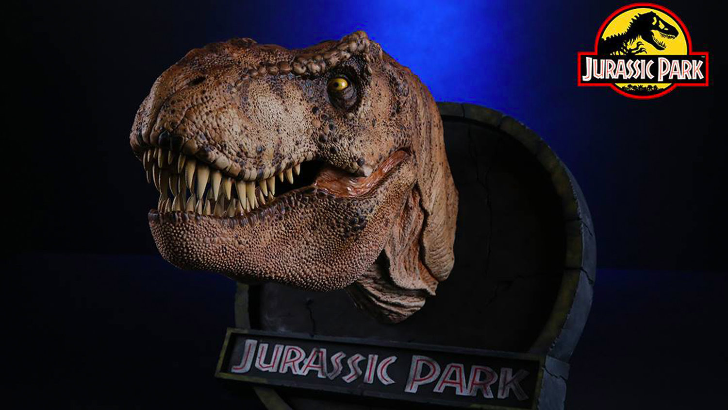 You Can Buy a JURASSIC PARK T-Rex Bust Made From the Film's Original Molds