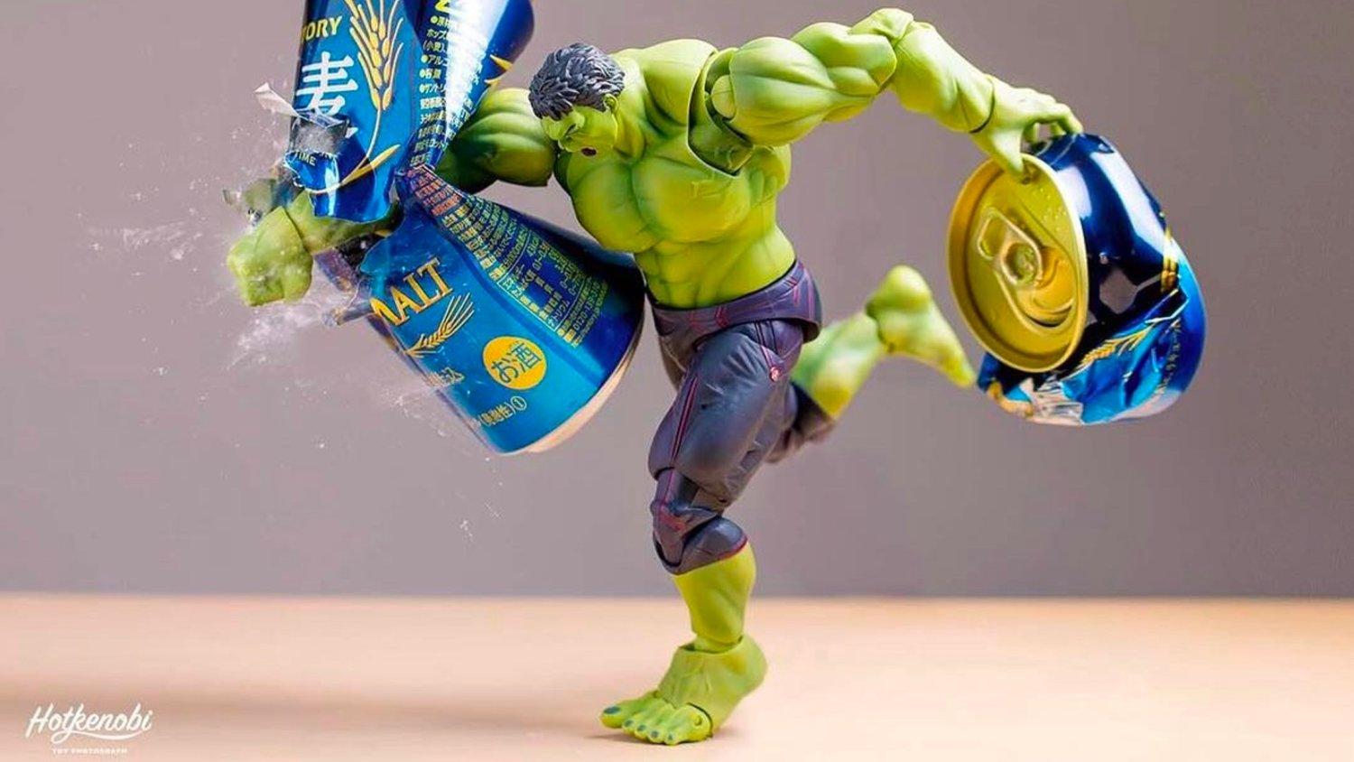 Superheroes Smash Beer Cans in Fun Action Figure Photography Series