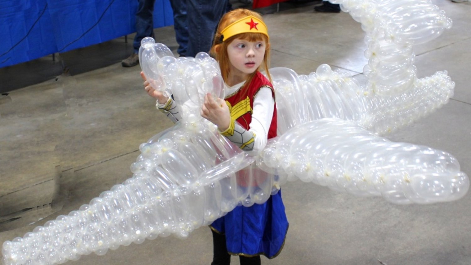 5-Year-Old Girl Cosplays Wonder Woman, Invisible Jet Included