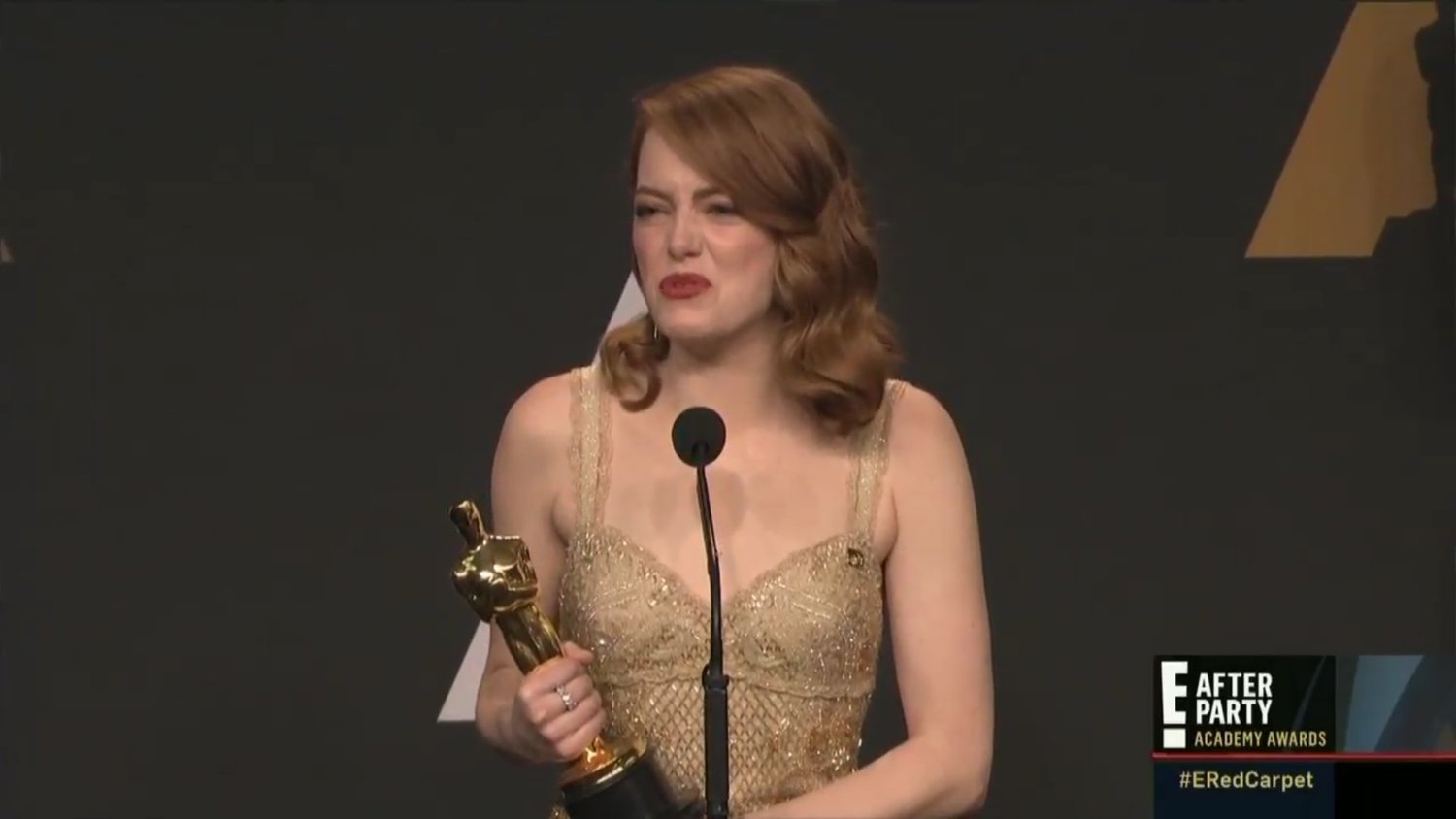 Watch: Emma Stone's Post Oscar Reaction to Best Picture Controversy