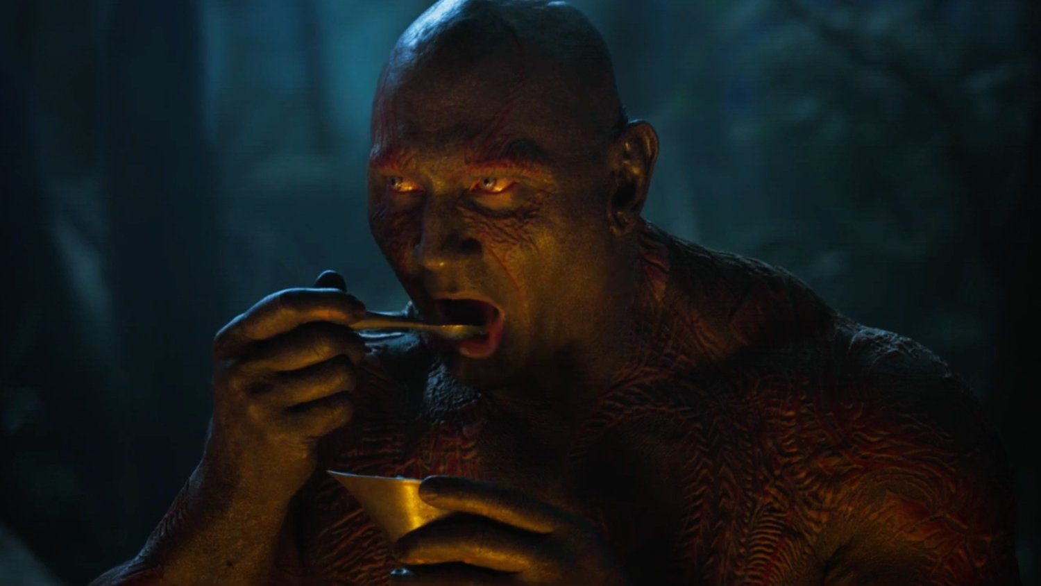 Drax is an Annoyingly Loud Eater in New GUARDIANS OF THE GALAXY VOL. 2 Teaser