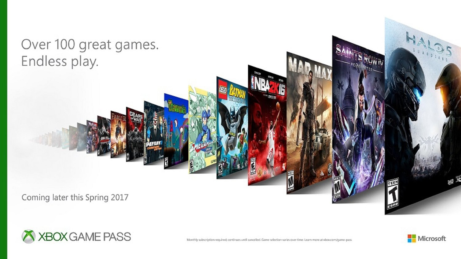 Xbox Unveils Xbox Game Pass Which Gives Access To 100 Games For Monthly Subscription