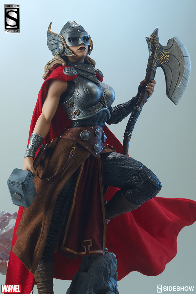 sideshow reveals their stunning thor jane foster premium