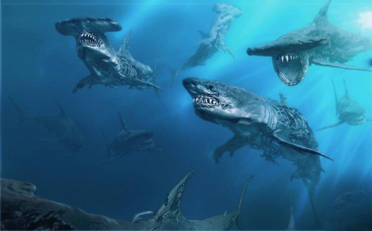 PIRATAS DO CARIBE 5 Arte conceitual mostra tubarões fantasmas1