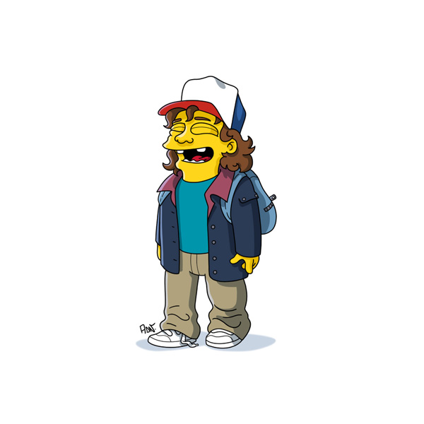 Stranger Things Characters Get Simpson Ized In Cool Fan