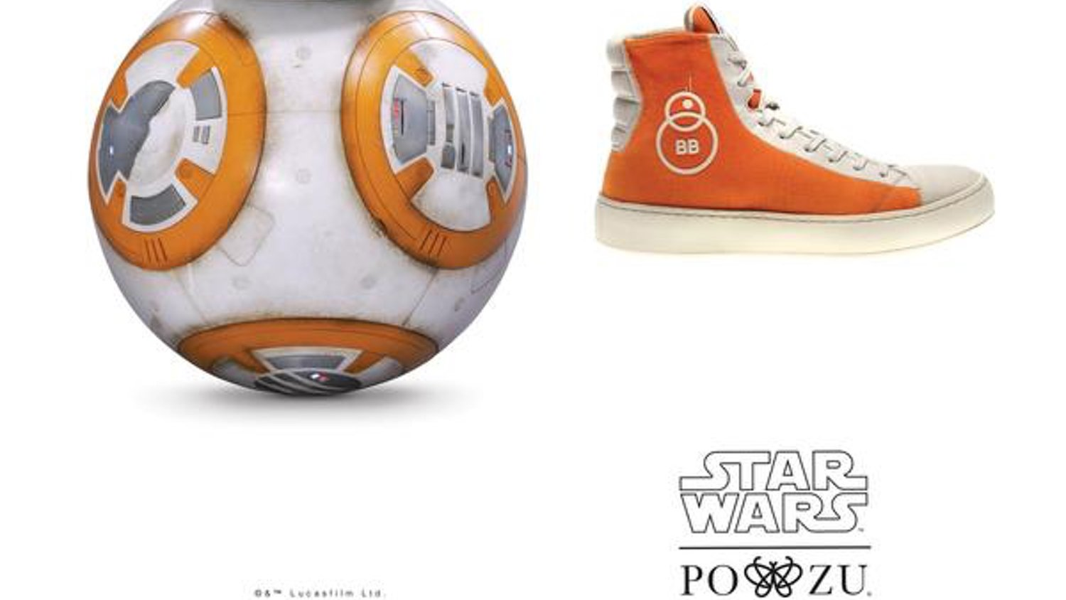 Po-Zu Unveils Their BB-8-Inspired Sneakers From STAR WARS: THE FORCE AWAKENS