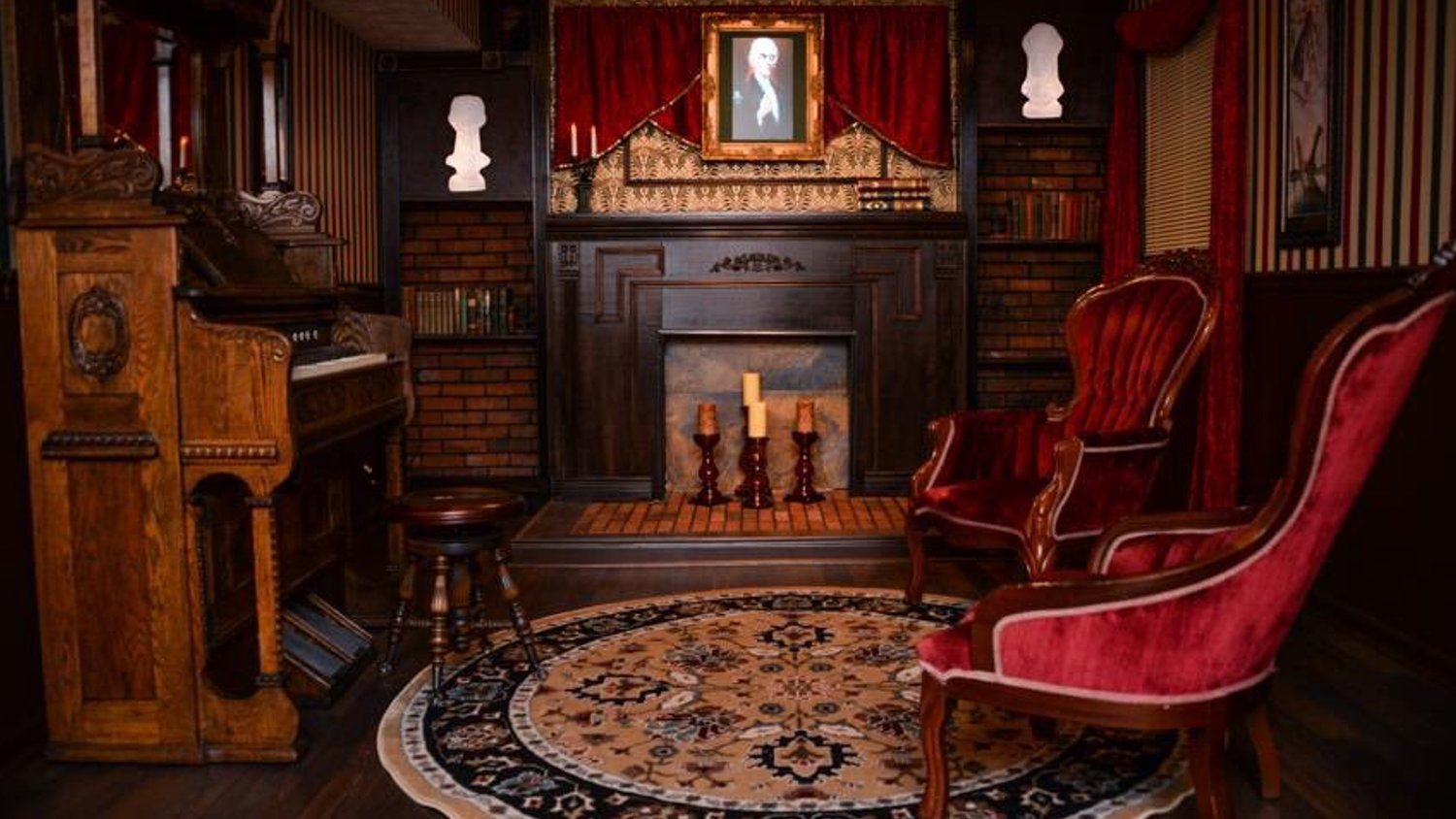 Disney Fan Gives His Basement a Wonderfully Creepy Haunted Mansion Overhaul