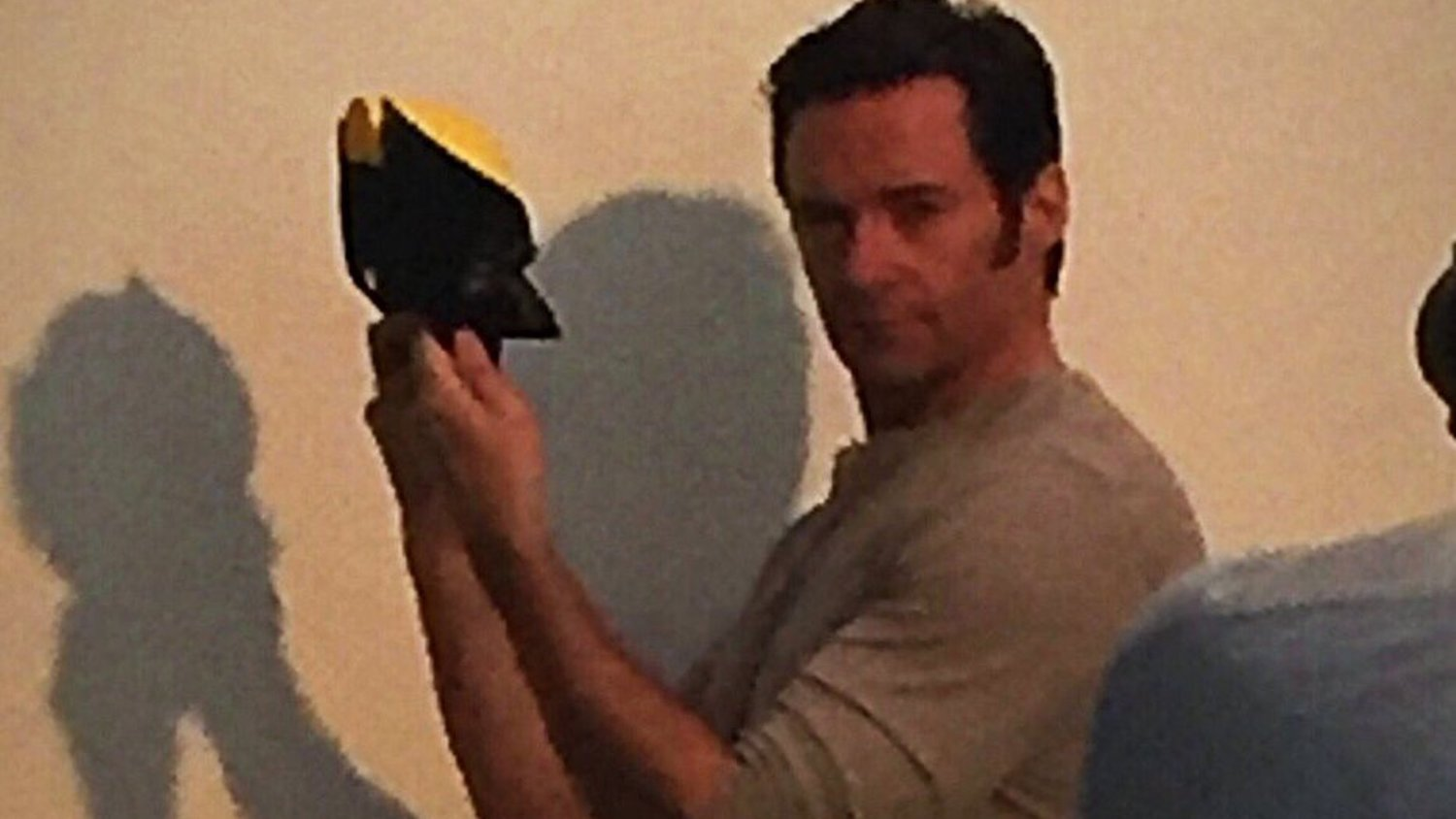 Hugh Jackman Poses with the Classic Wolverine Mask That He Never Wore in the Films