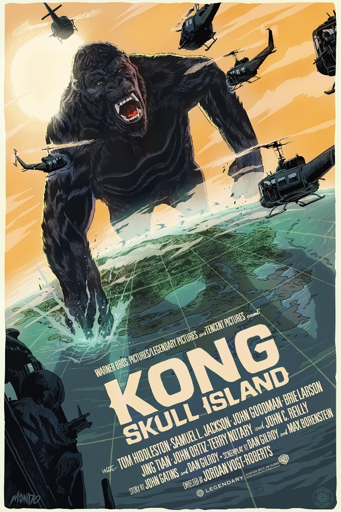 "Kong: Skull Island by Francesco Francavilla. 24""x36"" screen print. Hand numbered. Edition of 335. Printed by D&L Screenprinting. $60"