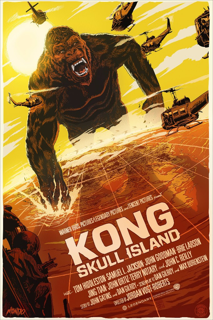 "Kong: Skull Island (Variant) by Francesco Francavilla. 24""x36"" screen print. Hand numbered. Edition of 95. Printed by D&L Screenprinting. $85"