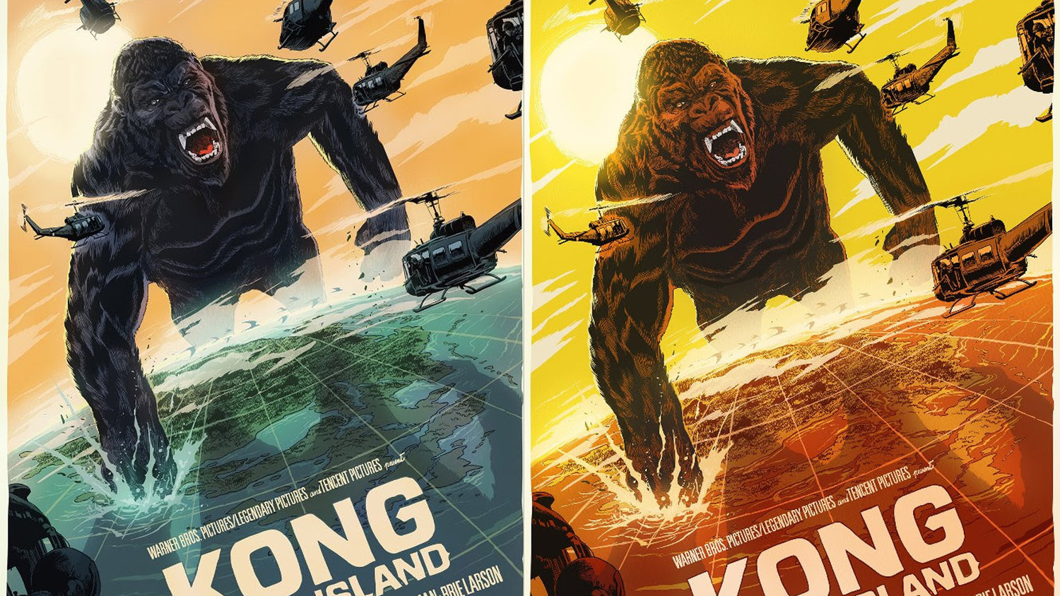 Mondo Unveils Two KONG: SKULL ISLAND Posters From Artist Francesco Francavilla