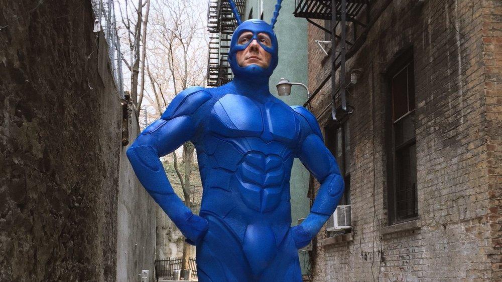 new costume design revealed for amazon series the tick  u2014 geektyrant