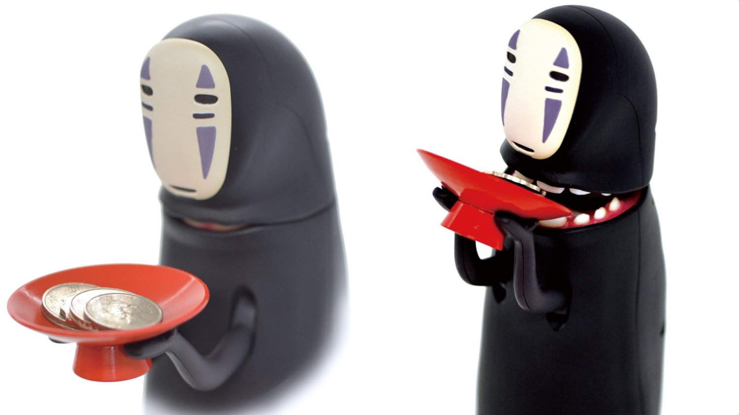 SPIRITED AWAY-Inspired No-Face Piggy Bank Eats Coins, Burps, and More