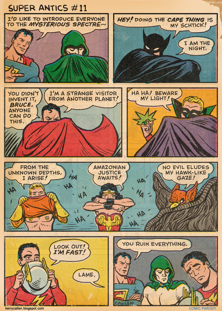 Amusing New Dc Comic Strip Pokes Fun At Quot The Cape Thing