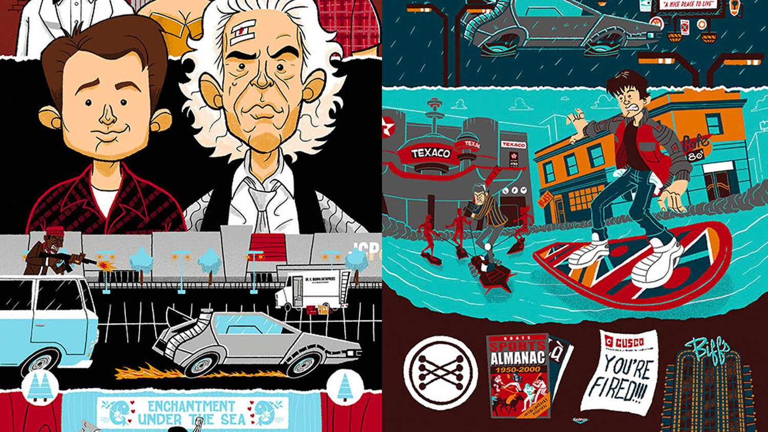These BACK TO THE FUTURE Posters Give You a Whirlwind Recap of the Trilogy