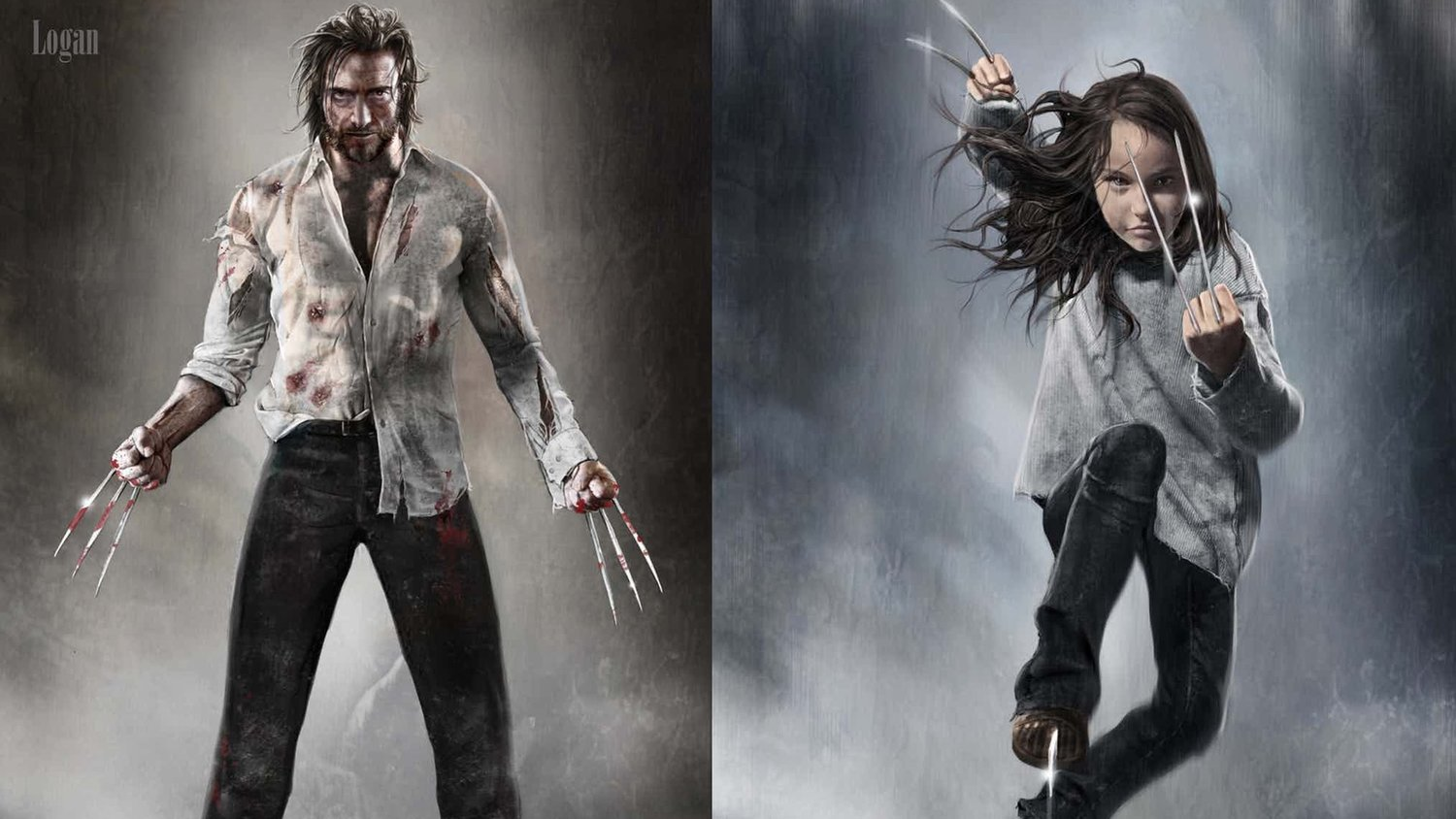 LOGAN Concept Art Shows Early Designs for Wolverine, X-23, Professor X, and Caliban