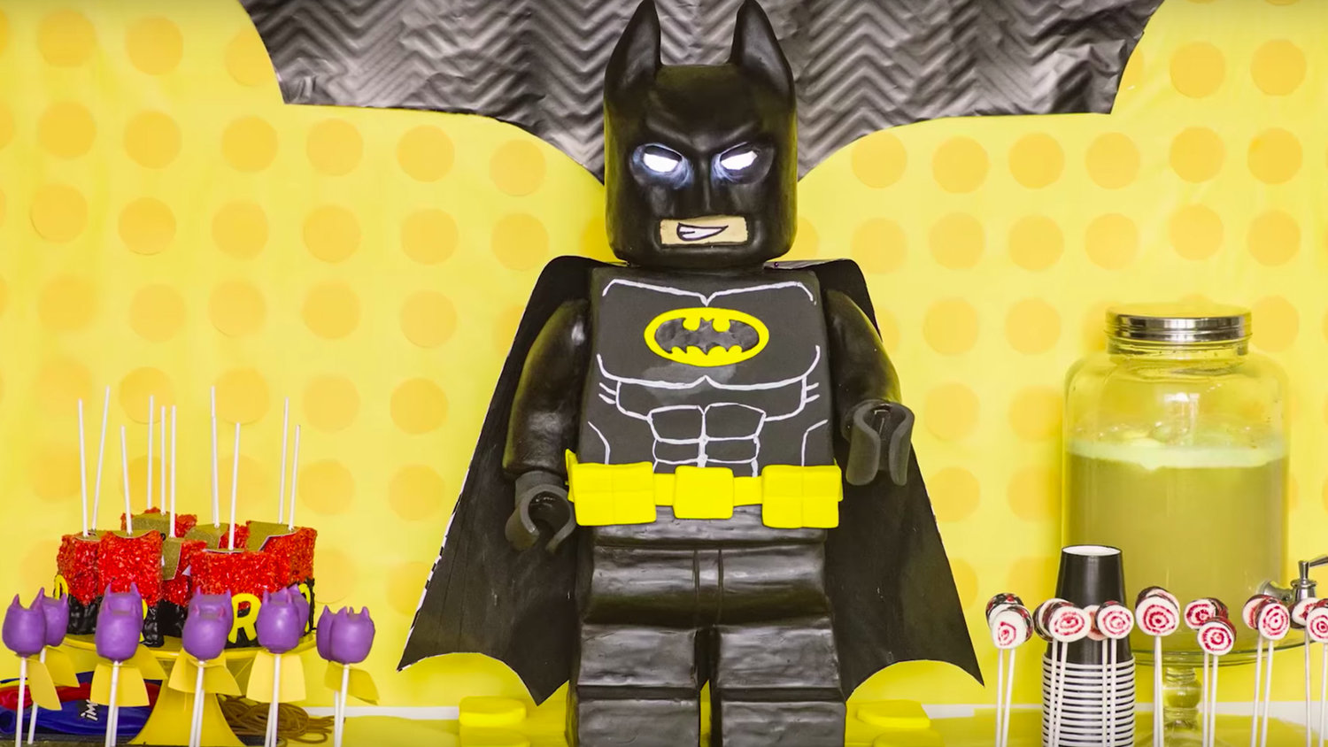 This Huge LEGO BATMAN Cake Makes the Dark Knight Look Delicious