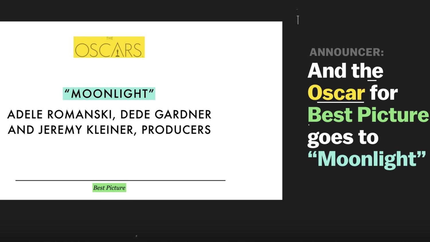 Video: How Different Typography Could Have Prevented This Year's Oscars Mix-Up