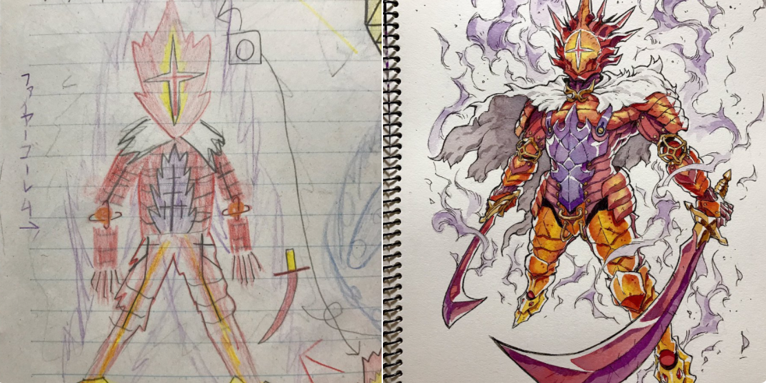 anime artist turns more of his son s drawings into cool character