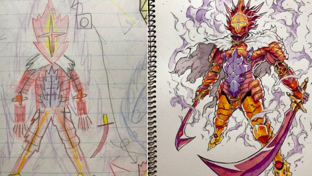 Anime Artist Turns More Of His Son S Drawings Into Cool