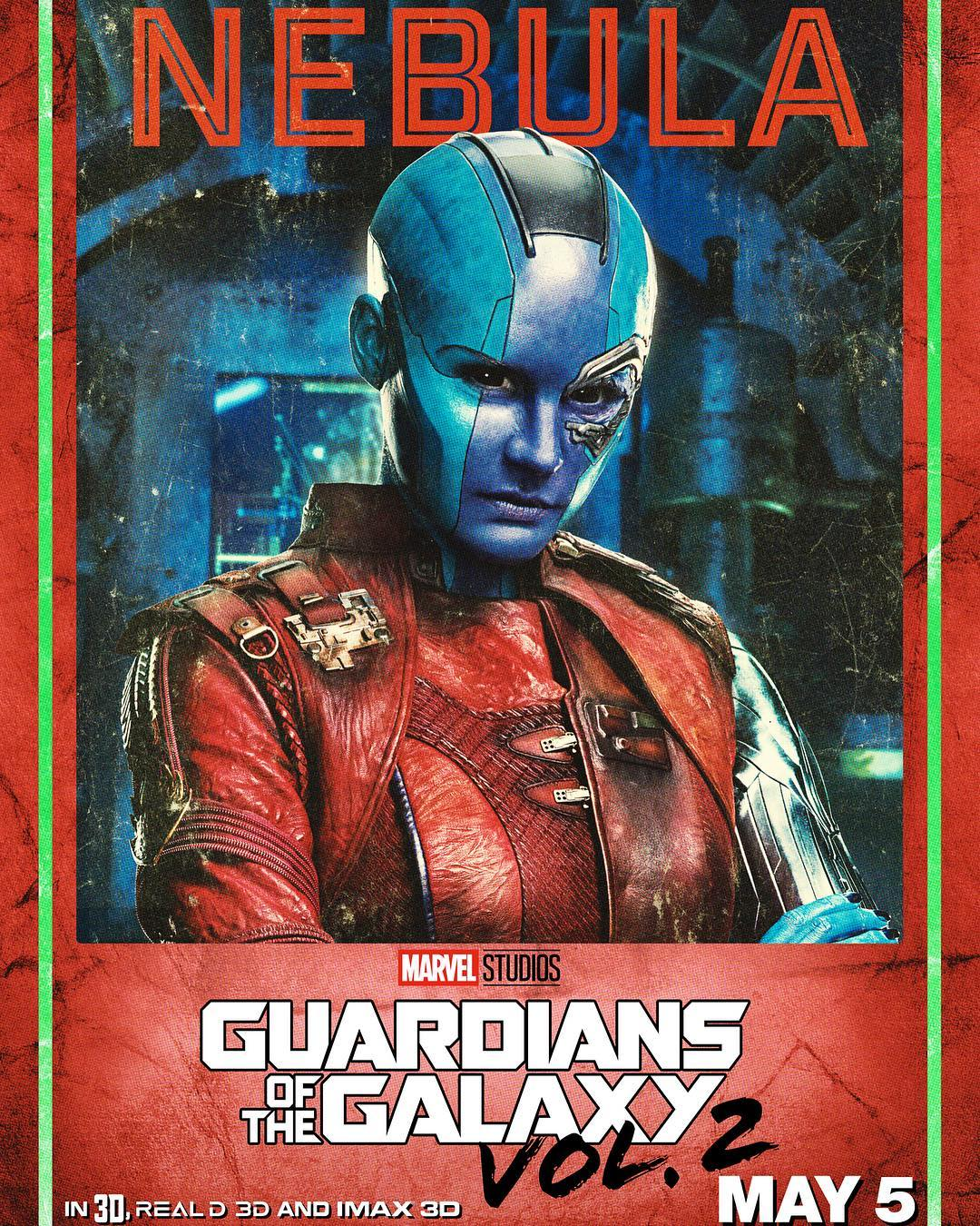 series of character posters released for guardians of the galaxy vol