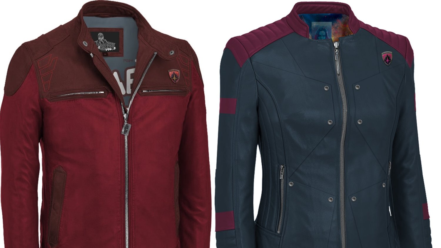 Official GUARDIANS OF THE GALAXY VOL. 2 Star-Lord and Gamora Jackets