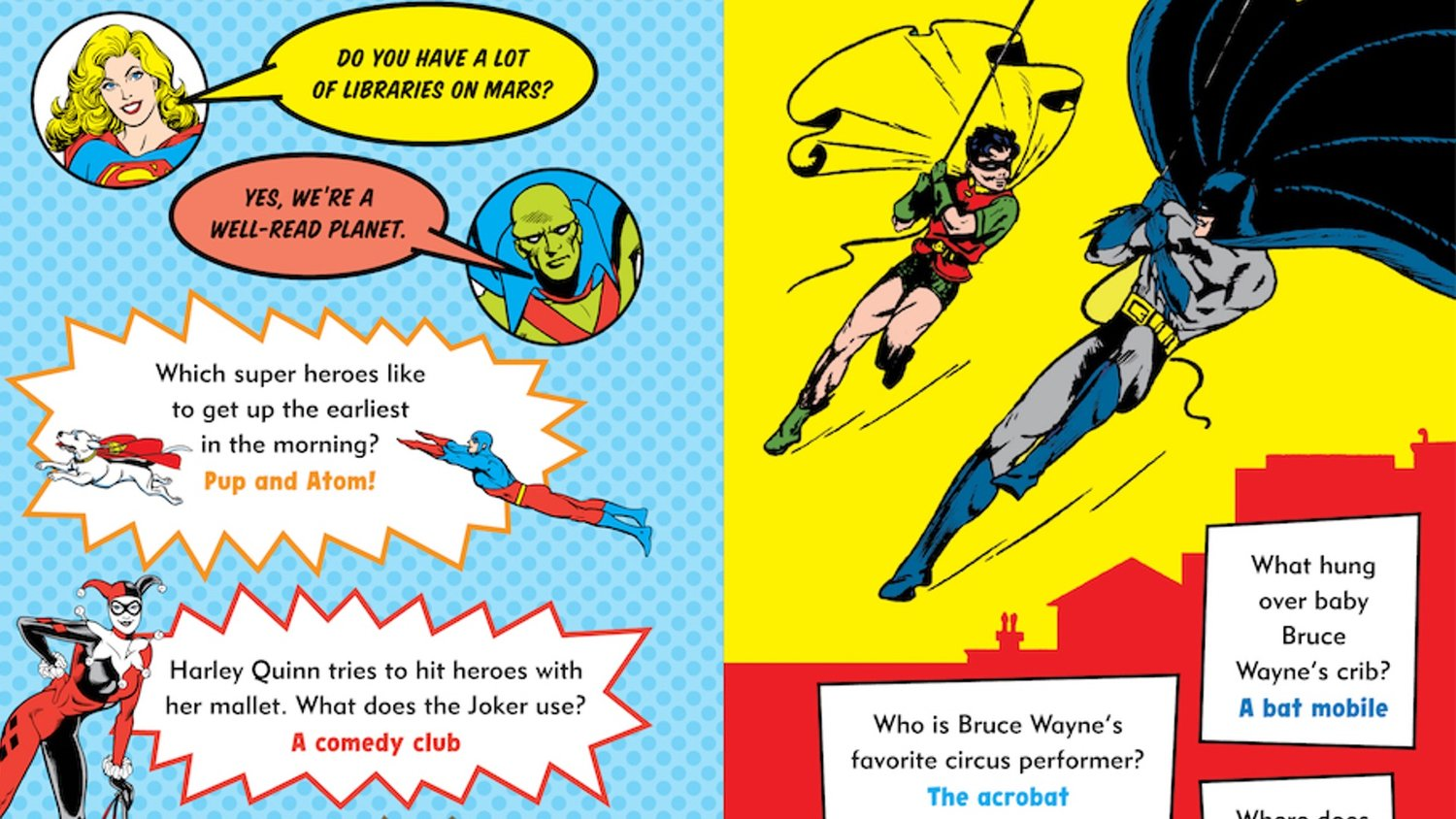 There's an Official DC Superhero Joke Book Filled With the Worst Jokes Ever!