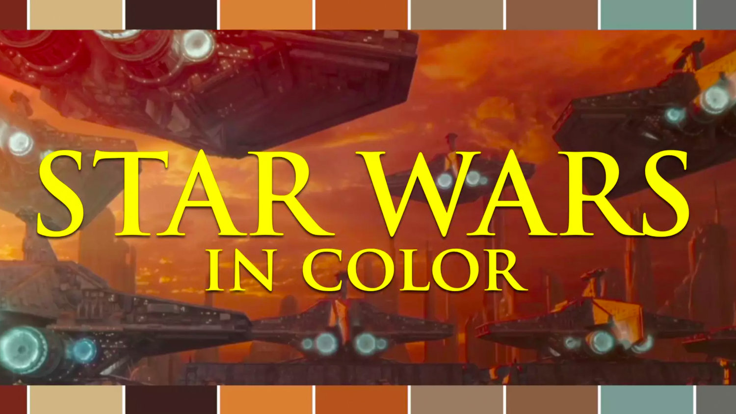 Tour the Color Palette of the Entire STAR WARS Universe in One Minute Video