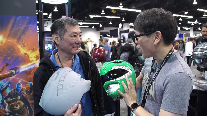 Tested Checks Out The Original Green Ranger Helmet From POWER RANGERS