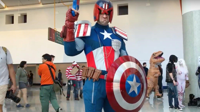 Tyrants of Cosplay: Judge Dredd / Captain America Mashup - Judge Rogers