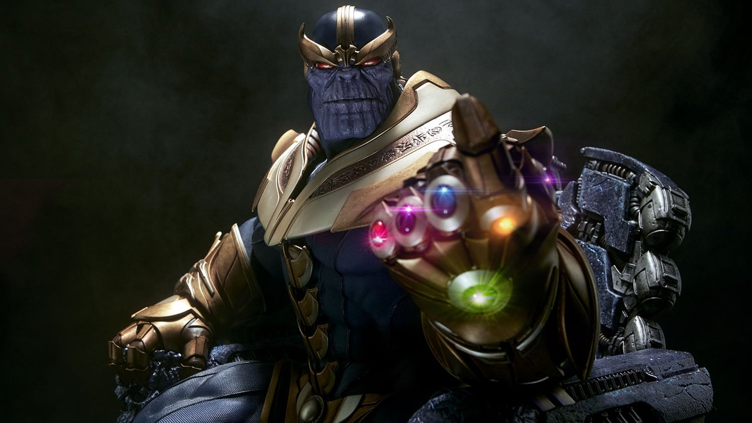 Sideshow Collectibles Unveiled Their Menacing THANOS ON THRONE Maquette