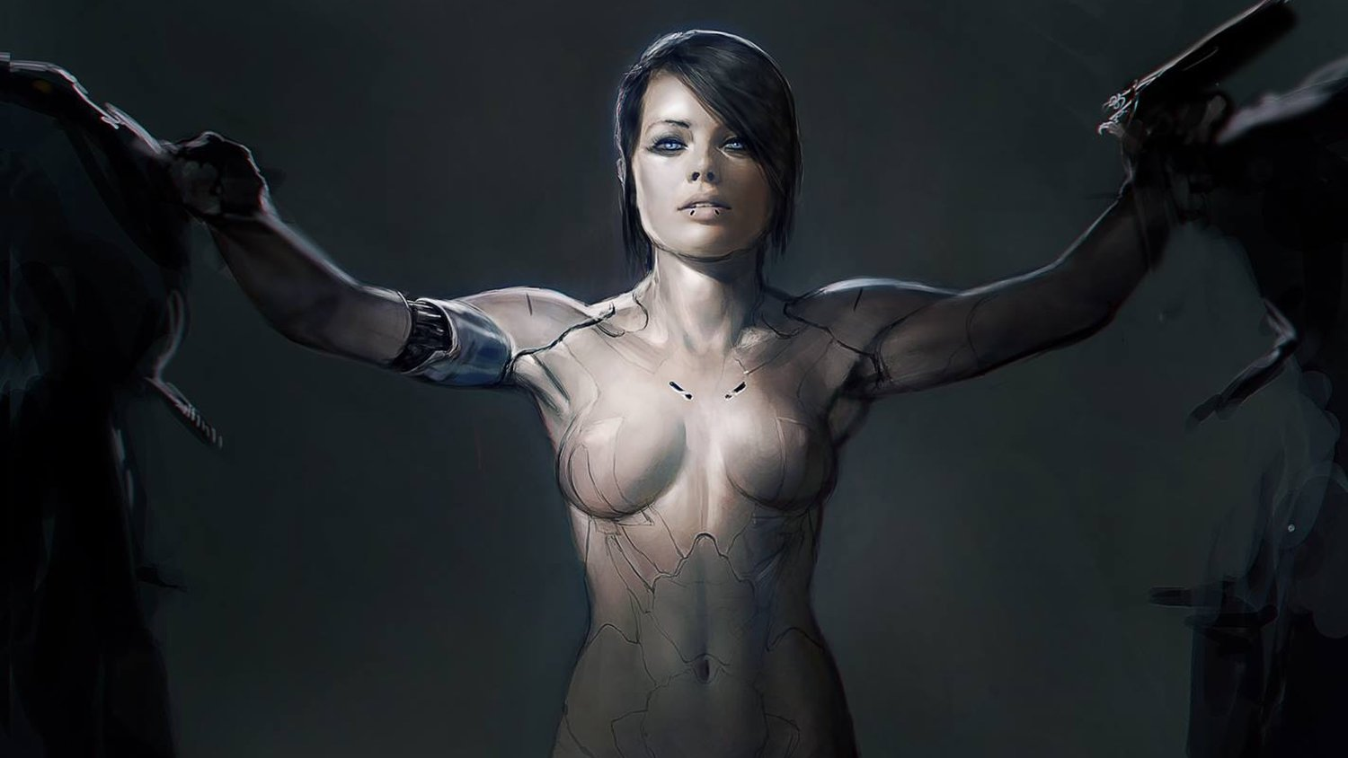 Early Concept Art For GHOST IN THE SHELL Shows Margot Robbie as Major